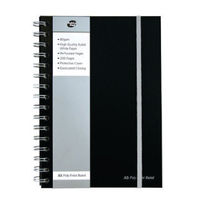 Pukka Pad A5 Black Polypropylene Jotta Notebook, 160 Pages - Pack of 3 - PP00719
