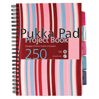 Pukka Pad A4 Hardcover Project Feint Ruled Notebooks - Pack of 3 - CBPROBA4