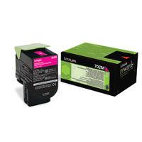 Lexmark 702M Magenta Toner Cartridge - 70C20M0