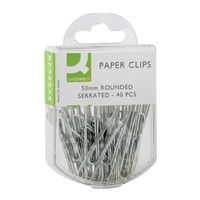 Q-Connect 50mm Serrated Paperclips (Pack of 400) - KF02025Q