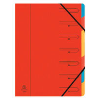Europa A4 Red 7 Part Organiser - 54075E