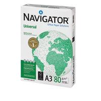 Navigator Universal White A3 Paper, 80gsm (2500 Sheets per Box) - NAVA380