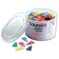 View more details about Laurel Assorted 35mm Plastic Paperclips, Pack of 200 - 126130399