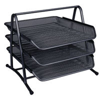 Q-Connect Black 3 Tier Letter Tray - KF00823