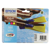 Epson T5846 Black and Colour Ink Picture Pack