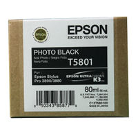 View more details about Epson T5801 Black Ink Cartridge - C13T580100