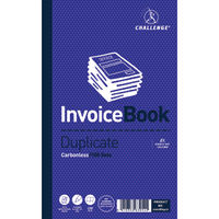 Challenge Carbonless Duplicate Invoice Book, 100 Slips (Pack of 5) - B63054