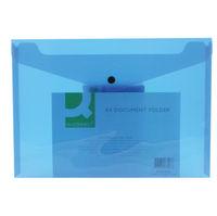 Q-Connect Blue A4 Polypropylene Folders, Pack of 12 – 16129BU
