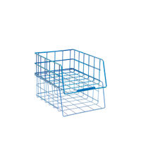 Blue Wire Filing Tray Large Capacity - WB999BL