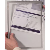 Franken Grey A4 Magnetic Document Holders, Pack of 5 - ITSA4M/5 12