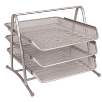 Q-Connect Silver 3 Tier Letter Tray - KF00822