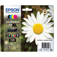Epson 18XL Black and Colour Ink Multipack - C13T18164012