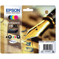 View more details about Epson 16XL Black and Colour Ink Cartridge Multipack - High Capacity C13T16364012