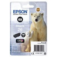 Epson 26 Photo Black Ink Cartridge - C13T26114012
