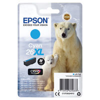 Epson 26XL Cyan Ink Cartridge - High Capacity C13T26324012