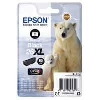 Epson 26XL Photo Black Ink Cartridge - High Capacity C13T26314012
