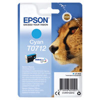 View more details about Epson T0712 Cyan Ink Cartridge - C13T07124012