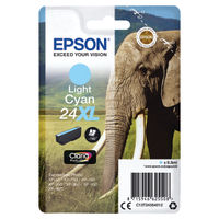 View more details about Epson 24XL Light Cyan Ink Cartridge - High Capacity C13T24354012