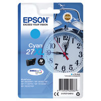 View more details about Epson 27XL Cyan Ink Cartridge - High Capacity C13T27124012