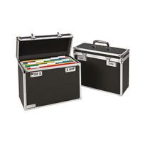 Esselte Vaultz Black Foolscap Personal Mobile Filing Case - 67170095