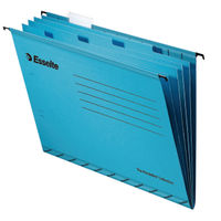 10 x Esselte Classic Foolscap Suspension File Dividers in Blue - 93135