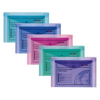 Snopake Polyfile Electra Foolscap Assorted Wallets - Pack of 5 - 10088