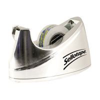 Sellotape Chrome Small Tape Dispenser - 504045