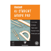 View more details about Chartwell A3 Student Graph Pad 30 Leaf 1, 5, 10mm - J13B