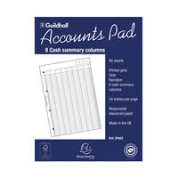 View more details about Guildhall A4 Account Summary Pad - 1589