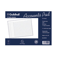 View more details about Guildhall 14 Cash Columns Account Pad - 1590