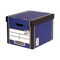 View more details about Fellowes Blue Bankers Box Premium Tall Storage Boxes, Pack of 10+2 - 7260603
