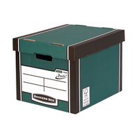 View more details about Fellowes Green Bankers Box Premium Presto Storage Box, Pack of 10+2 - 00730-FF