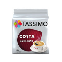 View more details about Tassimo Costa Americano Coffee Capsules, Pack of 80 - 973566
