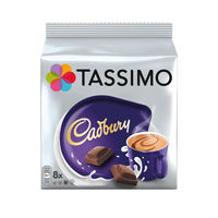 View more details about Tassimo 240g Cadbury Hot Chocolate Capsules, Pack of 40 - 131270