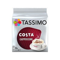 View more details about Tassimo Costa Cappuccino Coffee Capsules, Pack of 80 - 973546