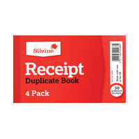 View more details about Silvine Carbon Cash Receipt Duplicate Book (Pack of 36) - 228
