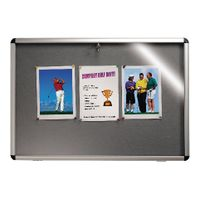 View more details about Nobo Lockable Visual Insert Board, 900 x 600mm, Grey - 1902049