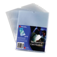 Rexel Nyrex Clear A5 Card Holder - Pack of 25 - 12093