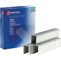 Rexel No.23 / 17mm Heavy Duty Metal Staples, Pack of 1000 - 2101052