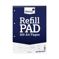 View more details about Silvine A4 Graph Refill Pads (5mm Squares) - Pack of 6 - A4RPX
