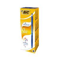 BIC Atlantis Stic Blue Ballpoint Pens, Pack of 12 - 837387