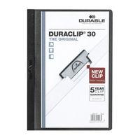 Durable Duraclip Black A4 Folder 3mm, Pack of 25 - 2200/01