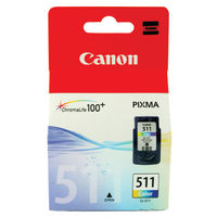 Canon CL-511 Colour Ink Cartridge - 2972B001