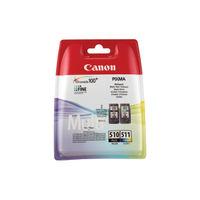Canon PGI-510 and CL-511 Black / Colour Ink Cartridge Multipack - 2970B010