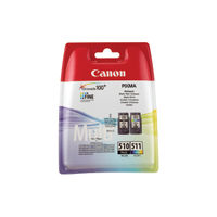 Canon PGI-510 and CL-511 Black / Colour Ink Cartridge Multipack - 2970B010