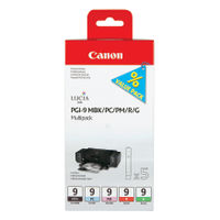 View more details about Canon PGI-9  MBK/PC/PM/R/G Ink Cartridge 1033B011