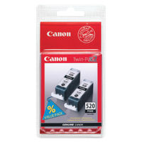 View more details about Canon PGI-520 Black Inkjet Cartridges (Pack of 2) 2641B002