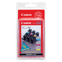 Canon CLI-526 Colour (C,M,Y) Ink Cartridge Multipack - 4541B009