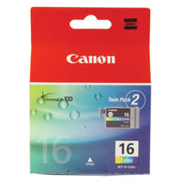 View more details about Canon BCI-16 CMY Inkjet Cartridges (Pack of 2) 9818A002