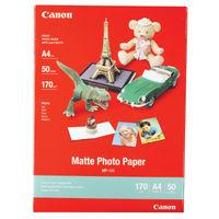 Canon MP-101 White A4 Matte Photo Paper, 170gsm - 50 Sheets - 7981A005